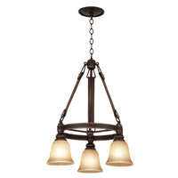 Rodeo Drive 3 Light 24 inch Antique Copper Chandelier Ceiling Light in Ecru (1209)