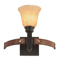 Kalco 4641AC/1209 Rodeo Drive 1 Light 13 inch Antique Copper Vanity Light Wall Light in Ecru (1209) photo thumbnail