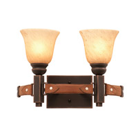 Kalco Lighting Rodeo Drive 2 Light Bath Light in Antique Copper 4642AC/1313