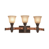 Rodeo Drive 3 Light 26 inch Antique Copper Vanity Light Wall Light in Ecru (1209)