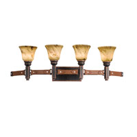 Kalco Lighting Rodeo Drive 4 Light Bath Light in Antique Copper 4644AC/1239