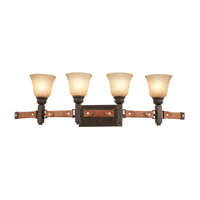 Kalco 4644TO/PS11 Rodeo Drive 4 Light 39 inch Tortoise Shell Vanity Light Wall Light