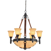 Kalco Rodeo Drive 9 Light Chandelier in Black 4646B/G3108/1313