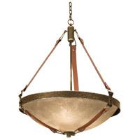 Kalco 4647AC/ECRU Rodeo Drive 6 Light 30 inch Antique Copper Chandelier Ceiling Light in Ecru Standard Glass