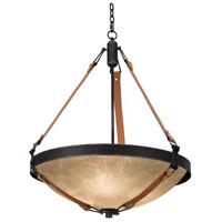 Kalco 4647B/ECRU Rodeo Drive 6 Light 30 inch Black Chandelier Ceiling Light in Ecru Standard Glass