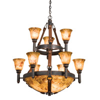 Kalco 4649AC/ART/PS11 Rodeo Drive 9 Light 34 inch Antique Copper Chandelier Ceiling Light