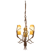 Napa 3 Light 15 inch Golden Wheat Chandelier Ceiling Light in Calcite (CALC)
