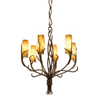 Napa 6 Light 28 inch Golden Wheat Chandelier Ceiling Light in SUNSET
