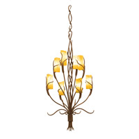 Napa 8 Light 23 inch Golden Wheat Chandelier Ceiling Light in Calcite (CALC)