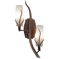 Kalco Lighting Napa 2 Light Wall Sconce in Golden Wheat 4763GW/SNOW