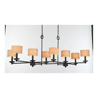 Kalco Charlestowne 8 Light Chandelier in Black 4838B/S195