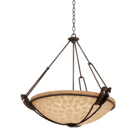 Grande 6 Light 45 inch Antique Copper Pendant Ceiling Light in Ecru (G3374)