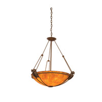 Kalco Lighting Grande 3 Light Pendant in Feldspar with White Alabaster Glass 4845FE/G3879
