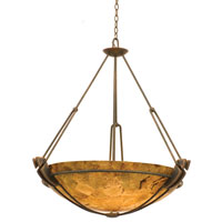 Grande 6 Light 35 inch Antique Copper Pendant Ceiling Light in Penshell (PS104)