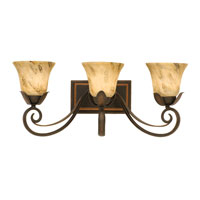 Kalco Astor 3 Light Bath Light in Antique Copper 4913AC/1239