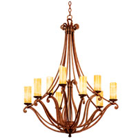 Kalco Lighting Somerset 9 Light Chandelier in Tuscan Sun with Natural Calcite Shade 4971TN/CALC photo thumbnail