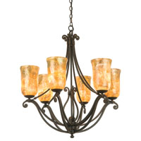 KalcoSomerset 6 Light Chandelier in Antique Copper 4976AC/NS19