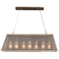 Kalco 500060CI Highland 7 Light 44 inch Country Iron Island Light Ceiling Light