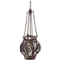 Isabel 1 Light 12 inch Oxidized Copper Mini Pendant Ceiling Light
