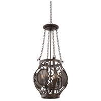 Kalco Lighting Isabel 4 Light Pendant in Oxidized Copper 500151-OC