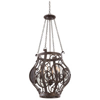 Isabel 6 Light 23 inch Oxidized Copper Pendant Ceiling Light