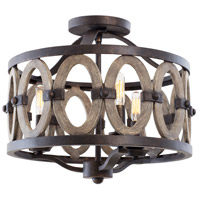 Kalco Belmont 3 Light Semi-Flush Mount in Florence Gold 500241-FG