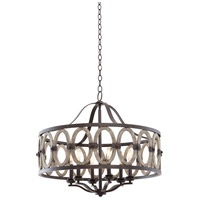 Belmont 6 Light 29 inch Florence Gold Pendant Ceiling Light