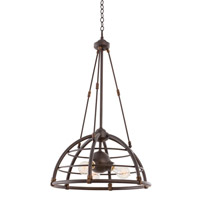 Kalco 500450TP Larson 3 Light 18 inch Tawny Port Pendant Ceiling Light