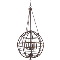 Kalco Lighting Larson 6 Light Pendant in Tawny Port 500452-TP
