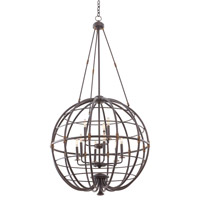 Kalco 500453TP Larson 9 Light 32 inch Tawny Port Pendant Ceiling Light