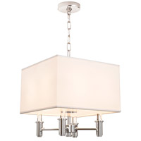 DuPont 4 Light 14 inch Chrome Pendant Ceiling Light