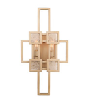 Metropolis 2 Light 10 inch Modern Gold Wall Sconce Wall Light