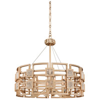 Kalco 500651MG Metropolis 6 Light 28 inch Modern Gold Pendant Ceiling Light photo thumbnail