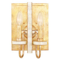 La Salle 2 Light 8 inch Honey Gold Wall Sconce Wall Light