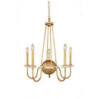 Kalco 500750HG LaSalle 5 Light 26 inch Honey Gold Chandelier Ceiling Light