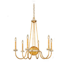 Kalco 500751HG LaSalle 6 Light 30 inch Honey Gold Chandelier Ceiling Light