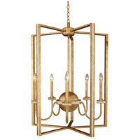 LaSalle 5 Light 28 inch Honey Gold Foyer Chandelier Ceiling Light