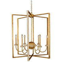Kalco Lighting LaSalle 6 Light Foyer Chandelier in Honey Gold 500753HG