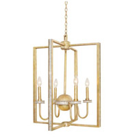 La Salle 4 Light 22 inch Honey Gold Foyer Ceiling Light