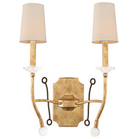 Kalco Lighting Waverly 2 Light Wall Bracket in Honey Gold 500820HG