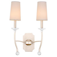 Waverly 2 Light 16 inch Pearl Silver Wall Bracket Wall Light