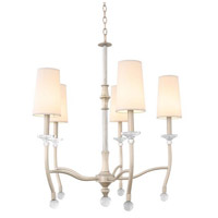 Kalco 500851PS Waverly 5 Light 28 inch Pearl Silver Chandelier Ceiling Light