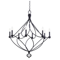 Sundance 8 Light 36 inch Charcoal Chandelier Ceiling Light
