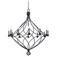 Sundance 12 Light 39 inch Charcoal Chandelier Ceiling Light