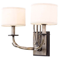Denali 2 Light 16 inch Bronze Jewel Tone Wall Sconce Wall Light