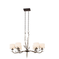 Denali 6 Light 21 inch Bronze Jewel Tone Chandelier Ceiling Light
