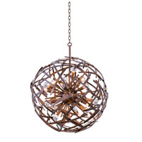 Kalco Lighting Ambassador 18 Light Pendant in Copper Patina 501551CP
