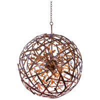 Kalco 501552CP Ambassador 24 Light 34 inch Copper Patina Pendant Ceiling Light
