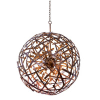 Ambassador 24 Light 34 inch Copper Patina Pendant Ceiling Light