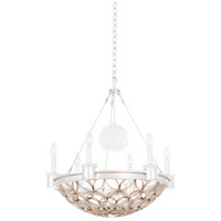 Kalco 501770GSL Loveland 6 Light 24 inch Gold Silver Leaf Pendant Ceiling Light